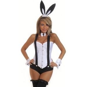 5 PC Tuxedo Bunny Costume