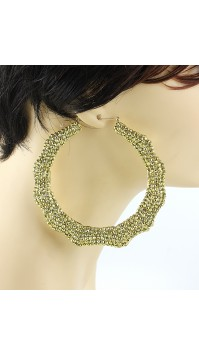 Yellow Gold Bamboo Earrings