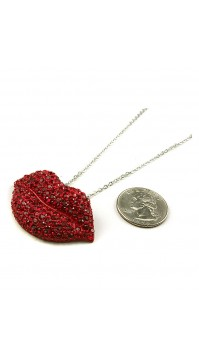 Kiss Lips Pendant