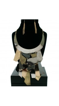 Multi-Colored BiB Pendent Necklace
