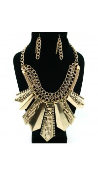 Modern Metallic Glam BiB Necklace