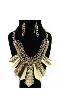 Modern Metallic Glam BiB Necklace