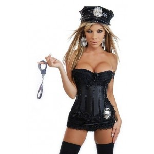 5 PC Sexy Cop Costume