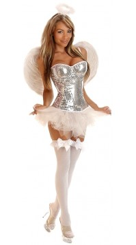 4 PC Glitter Angel Costume