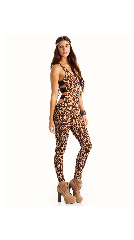 d4e5db33f131 Strappy Leopard Catsuit  Strappy Leopard Catsuit ...