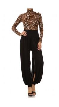 Leopard Bodice Jumpsuit