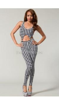 Checker Pin-up Bodysuit