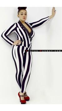 Striped Tuxedo Bodysuit
