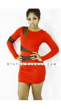 Red Sheer Dress