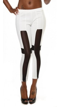 Cross Mesh Insert Leggings