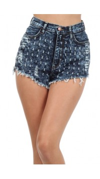 Acid High Waisted Shorts