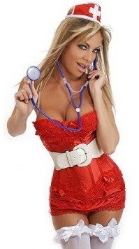 7 PC Naughty Nurse Costume