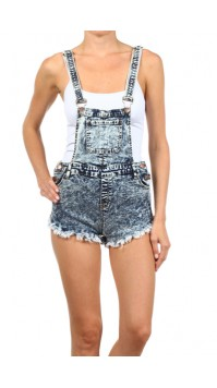Destroyed Overall Shorts