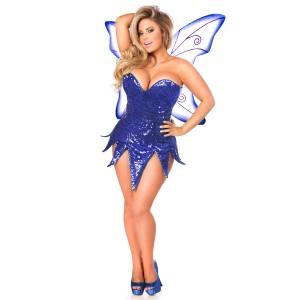 Blue Sequin Fairy Corset Costume