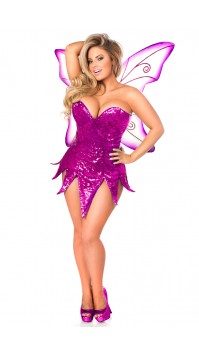 Pink Sequin Fairy Corset Costume