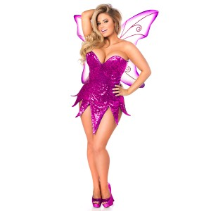 Pink Sequin Fairy Corset Costume